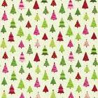 Caspari Continuous Roll of Gift Wrapping Paper, Calico Trees
