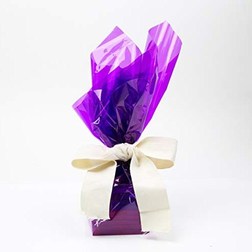 Cellophane x 100'Ft Purple Sheet Cellophane Roll Great Wrapping Paper