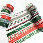 Christmas Gift Wrapper Xmas Red Green Masking Stickers Wash
