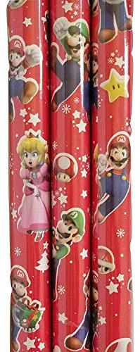 Christmas Wrapping  Greetings 1 Roll Design Festive Mario Br
