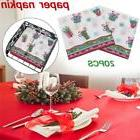 Christmas Paper Napkin Restaurant Hotel Holiday Party Gift W