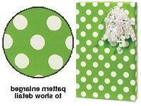 New Citrus Lime Green & White Polka Dot Gift Wrap Wrapping P
