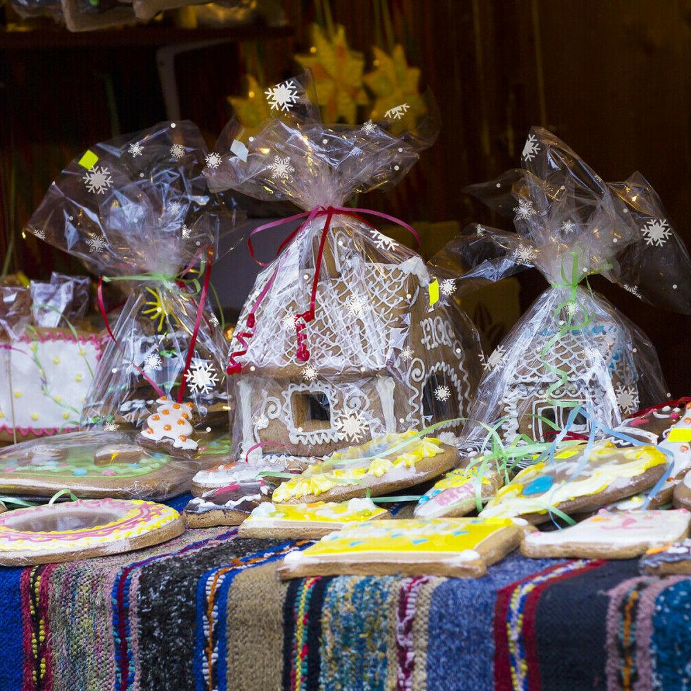 Clear Snowflake Wrapping Hampers
