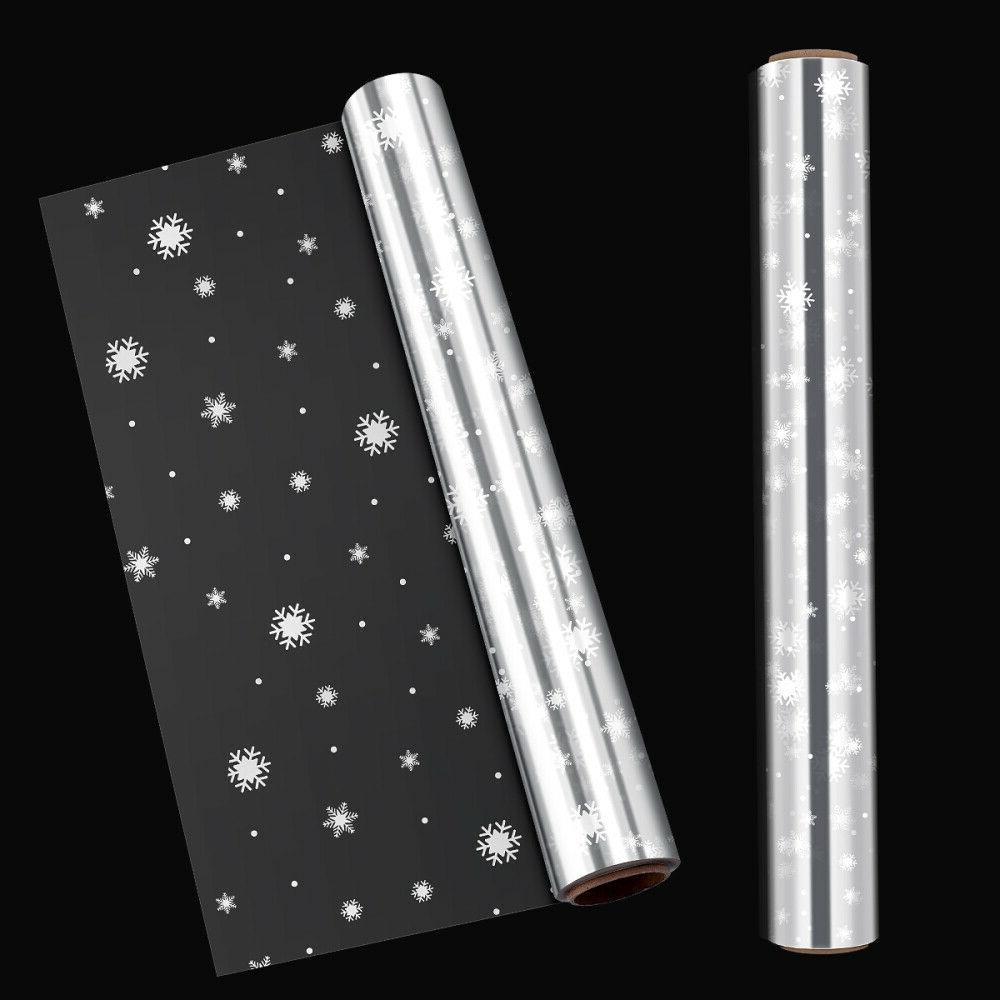 clear snowflake cellophane wrapping gift paper wedding