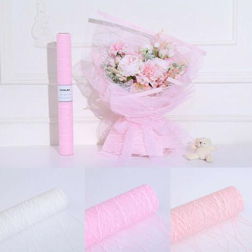 craft paper flower wrapping mesh packaging party