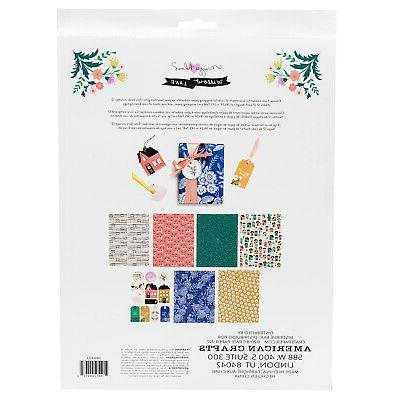 American Crafts Crate Willow Paper 24-Piece