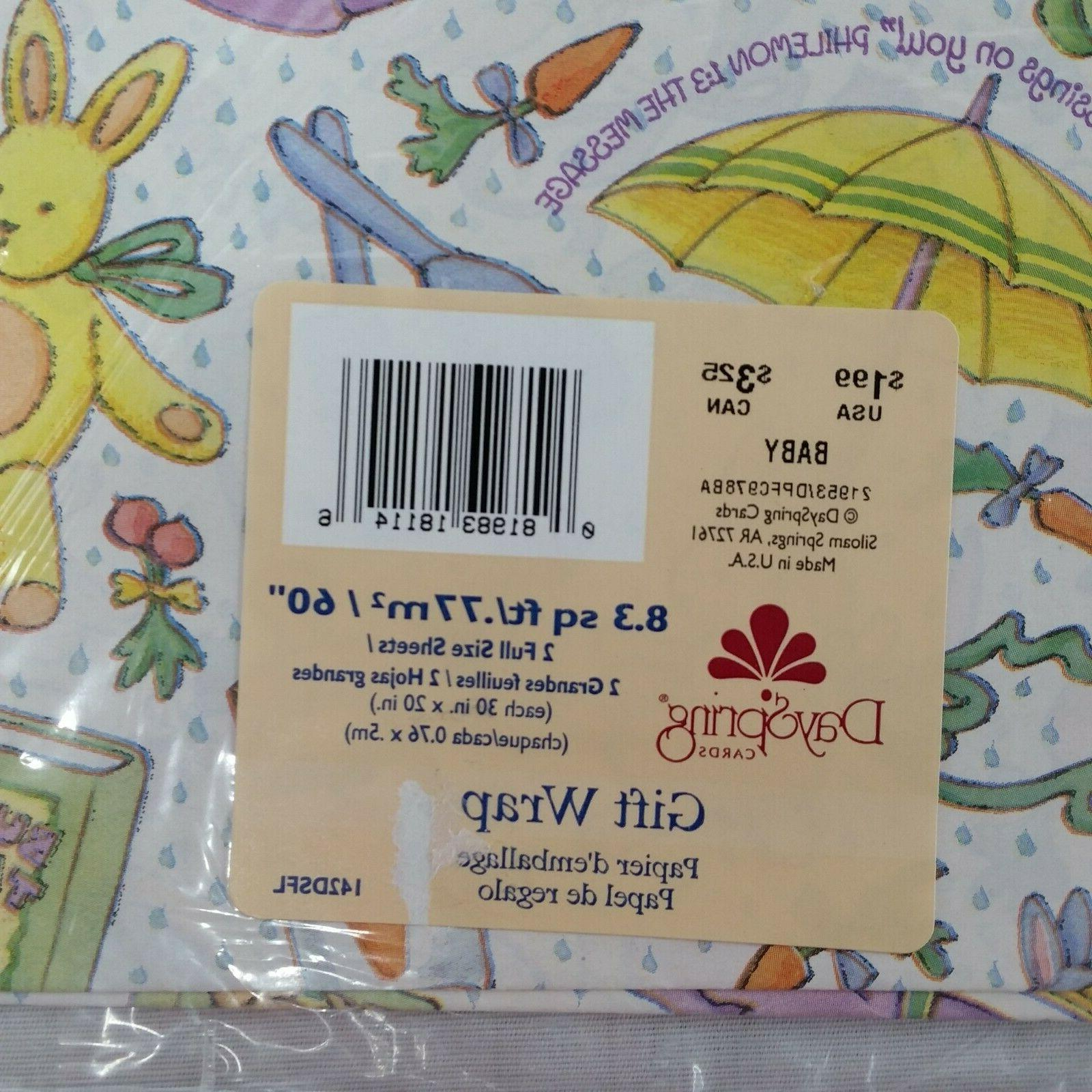 DaySpring Baby Wrap Vintage Wrapping Spring Bunny Scripture