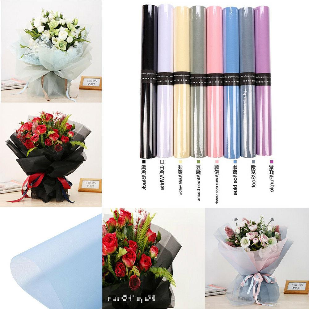 DIY Wrapping Paper Net Yarn Flower Bouquet Craft Paper Gift