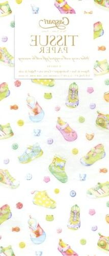 Entertaining with Caspari Tissue Paper, Baby Shoes, 4-Sheets