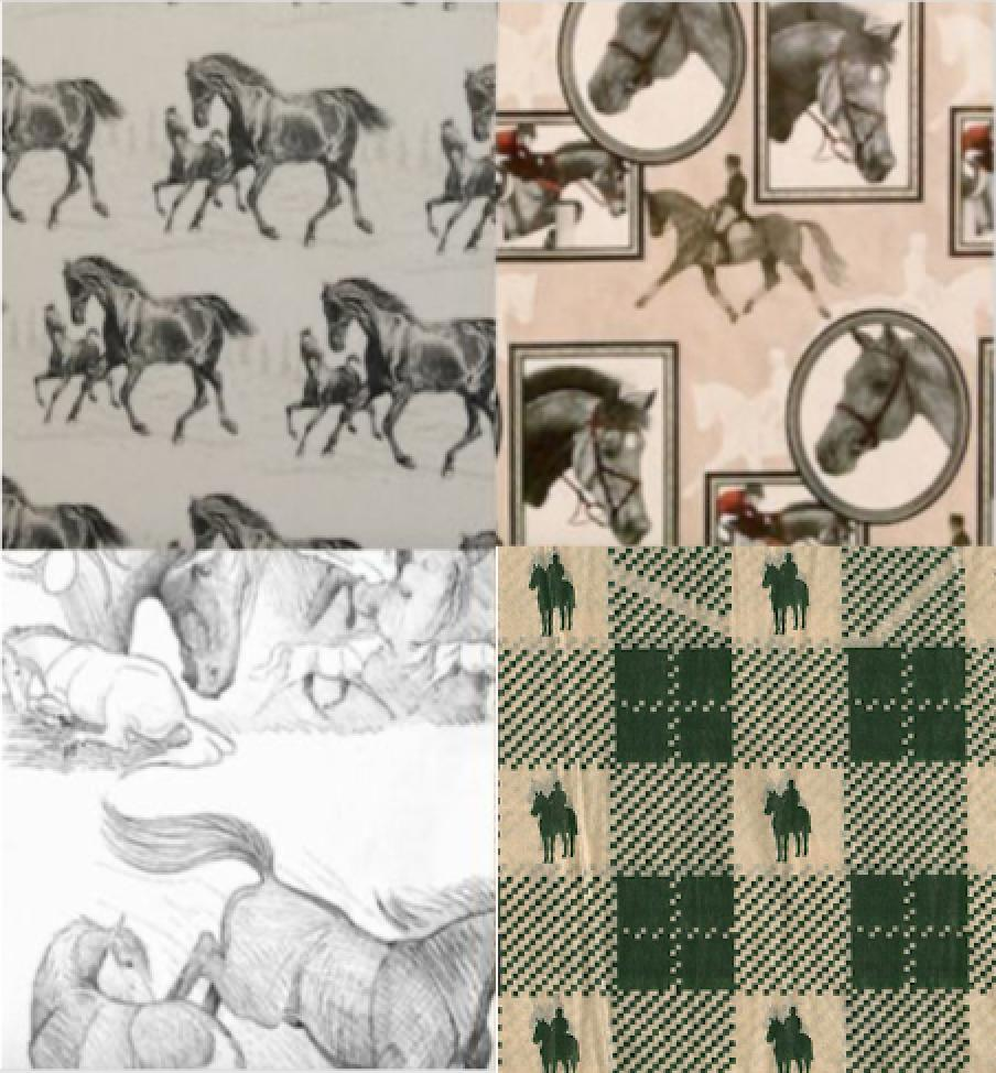 "Equestrian Horse Gift Wrap Tissue Paper, 20"" x 30"" 10 Sheets"