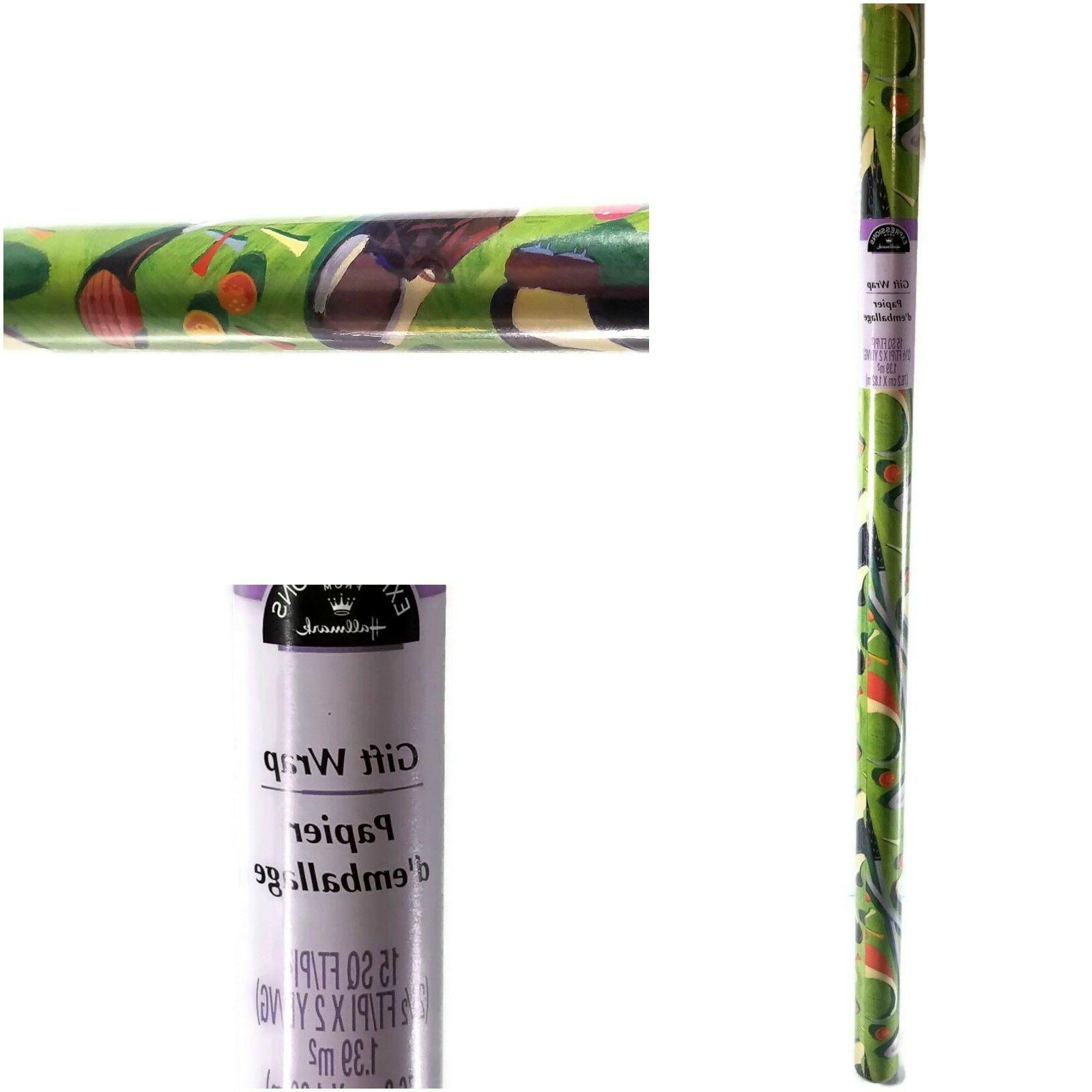 Hallmark Expressions - Golfing Greens - Gift Wrap Wrapping P