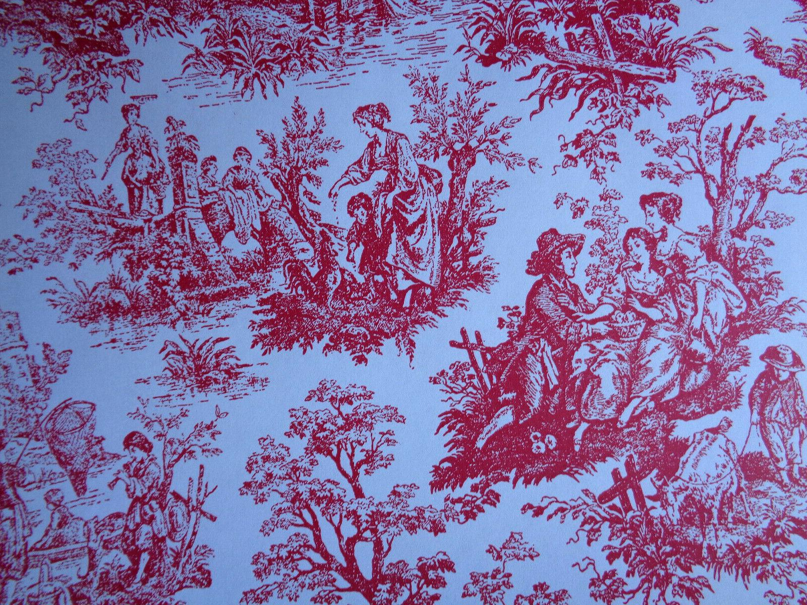 """French Gift Wrap - Wrapping 30"""" x 6' - Red"""