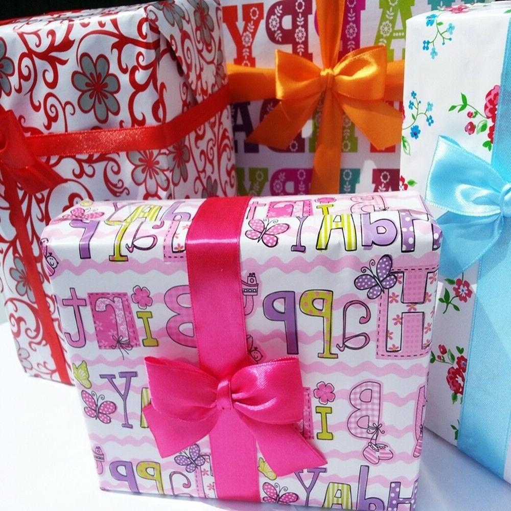 Gift Packaging Wrapping Paper 4m / Birthday
