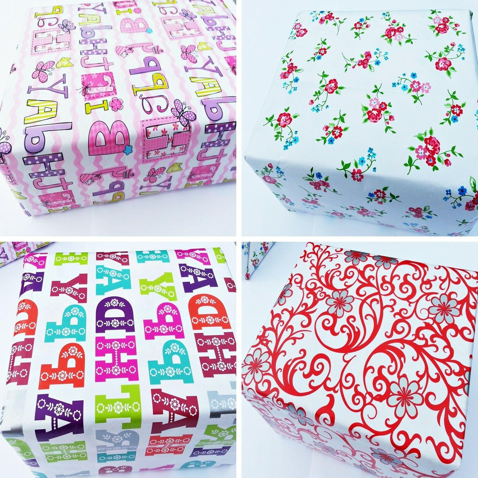 Gift Packaging Paper 4 10m Party Craft Luxury