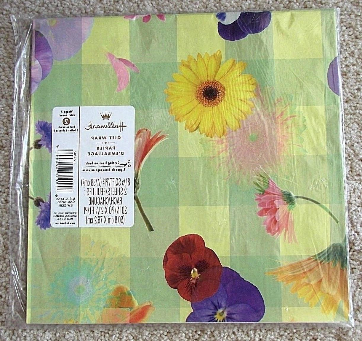 gift wrapping paper cut flowers floral print