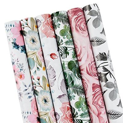 LaRibbons Gift Wrapping Paper Roll - Beautiful Floral Design