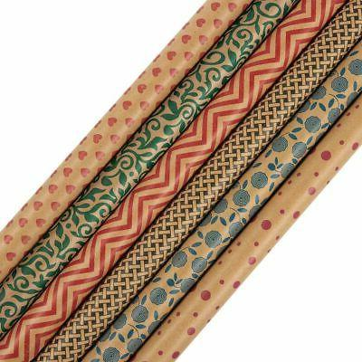 gift wrapping paper rolls pack of 6