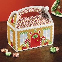 Fun Express Gingerbread House Cardboard Christmas Treat Boxe