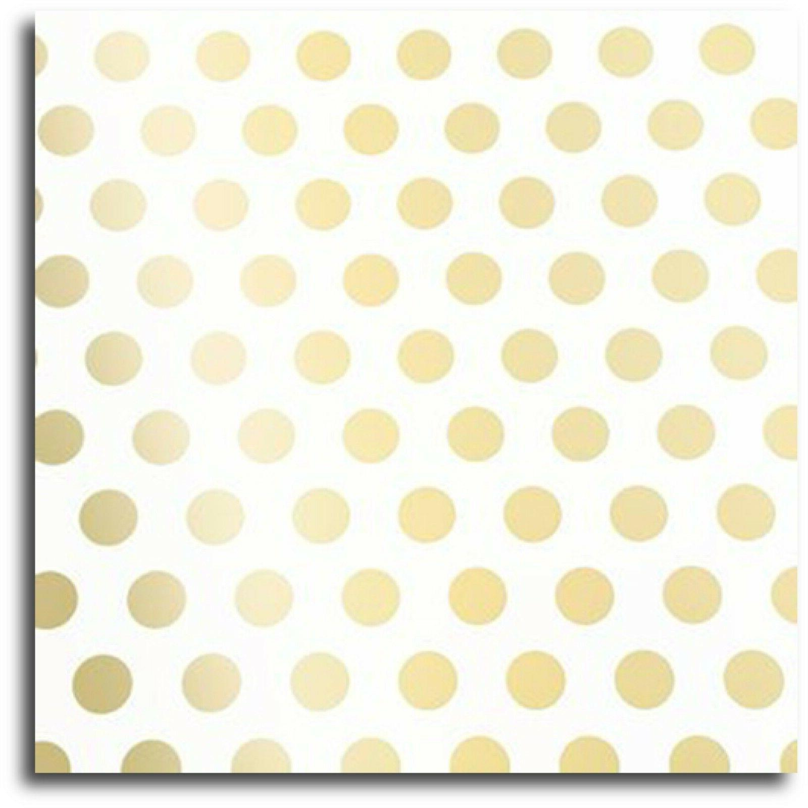 "Gold Foil Polka Dot Wrapping Paper x 240"" -"