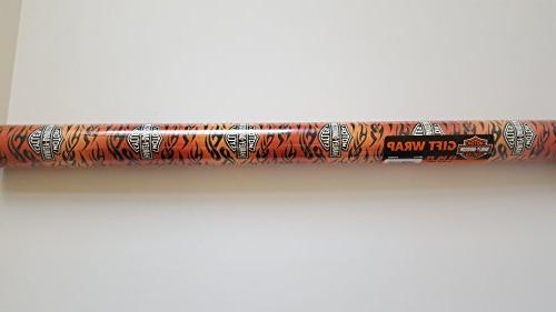 harely davidson gift wrap flames