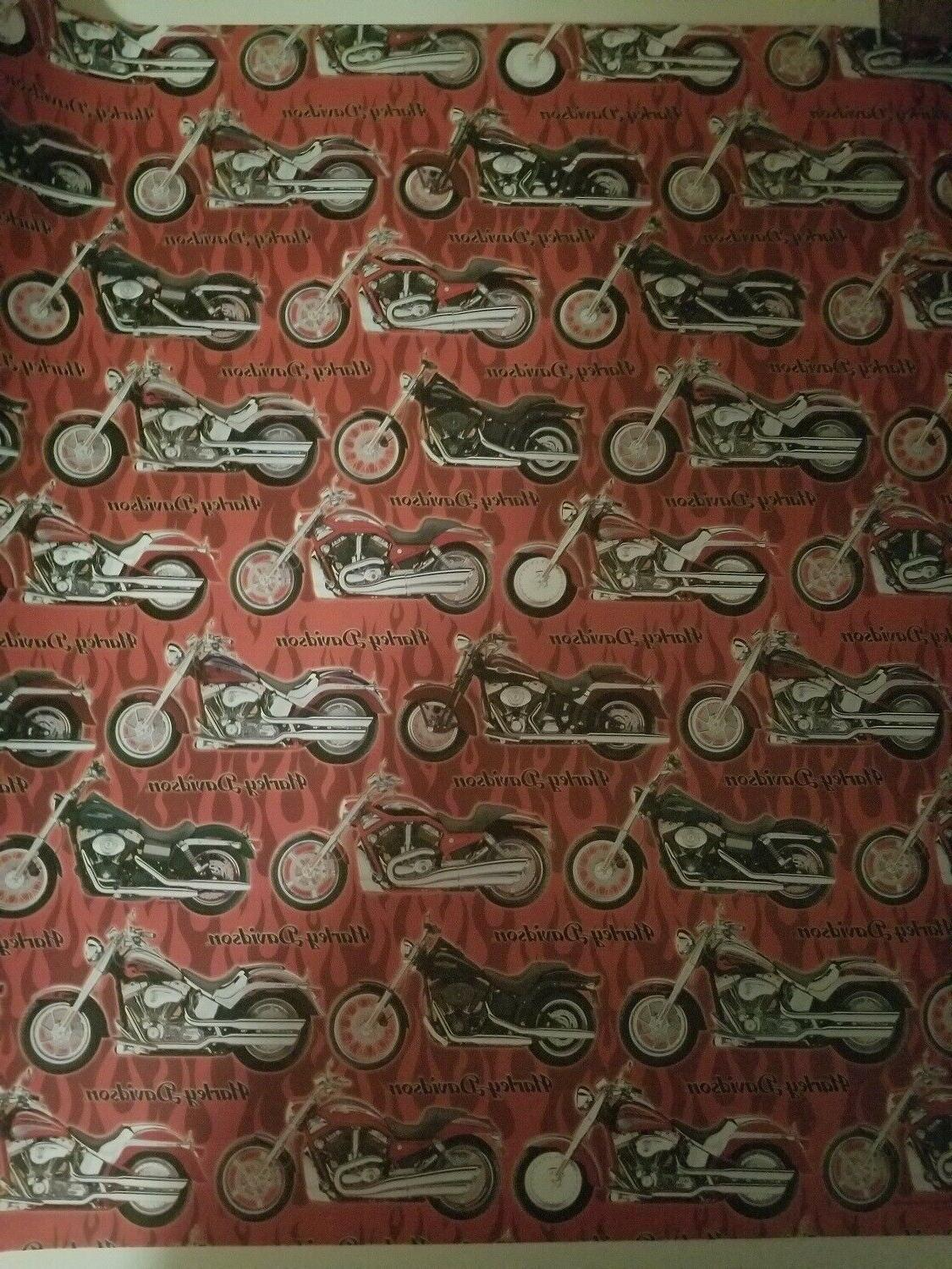 Harley Wrapping Paper Bikes 32 SQ FT