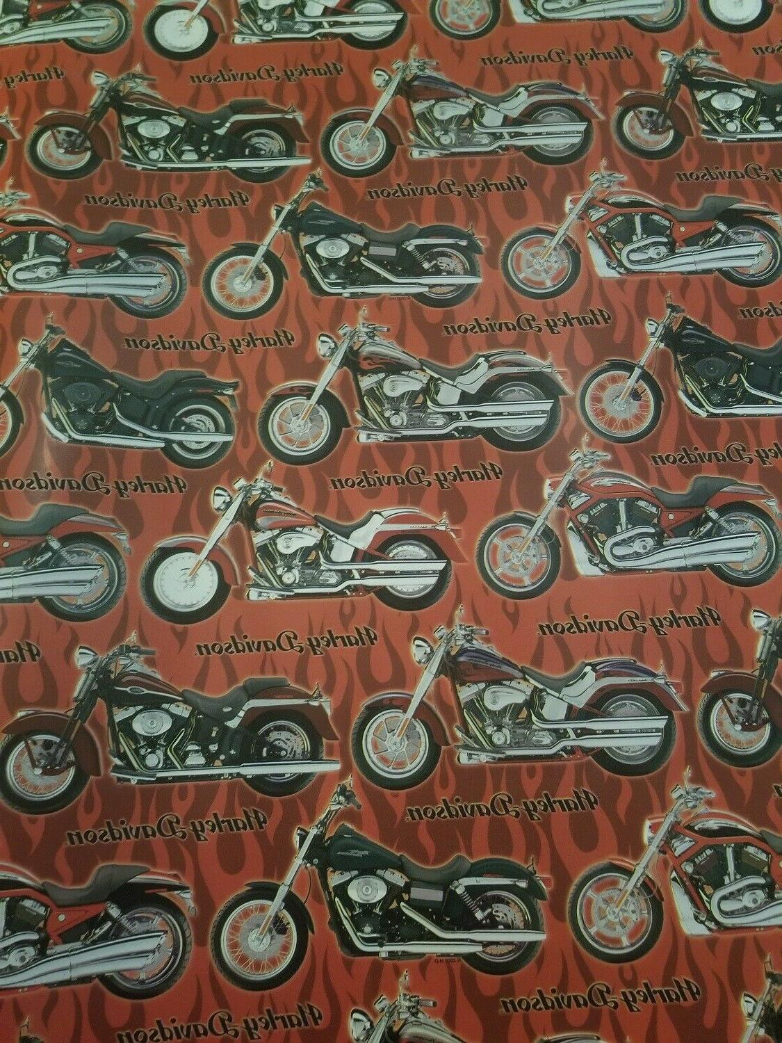 harley davidson gift wrapping paper bikes 32
