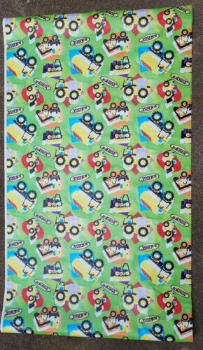 """Hasbro Tonka Truck Gift Wrap Wrapping Paper 40 Sq Ft 30"""" Wid"""