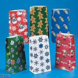 144 pc Holiday paper bag assortment