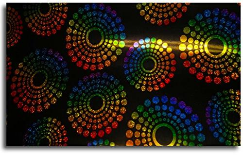 holographic sparkle prisms gift wrap