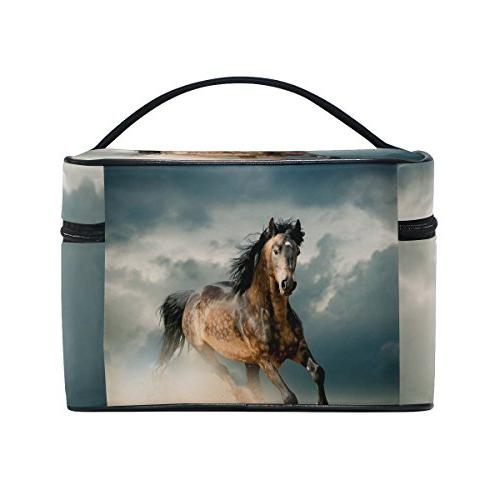 horse pattern print bags toiletry