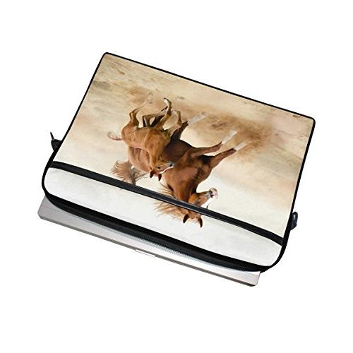 Horse Print 14 Inch Bag with Men