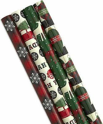 Image Arts Holiday Wrapping Paper with Cut Lines on Reverse,