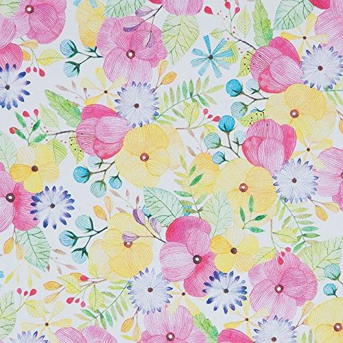JAM PAPER Bulk Wrapping Paper Rolls - Watercolor - 1/2 Sold Individually