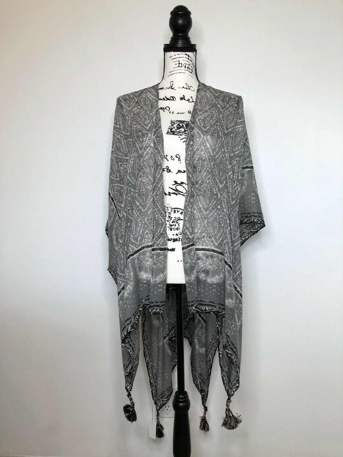 Rock Paper Flower Scarf Charcoal
