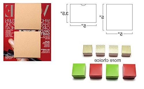 MESHA Kraft Boxes x 5 Inches, Brown Paper Boxes