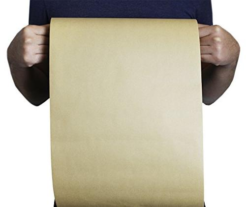 Kraft Paper - Jumbo Feet Long Brown Paper Roll, Gift Wrapping, 12