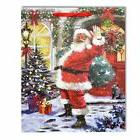 Medium Santa  Sack Christmas Gift Bag Strong Paper Bags Xmas