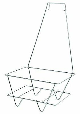 metal shopping basket stand with sign holder