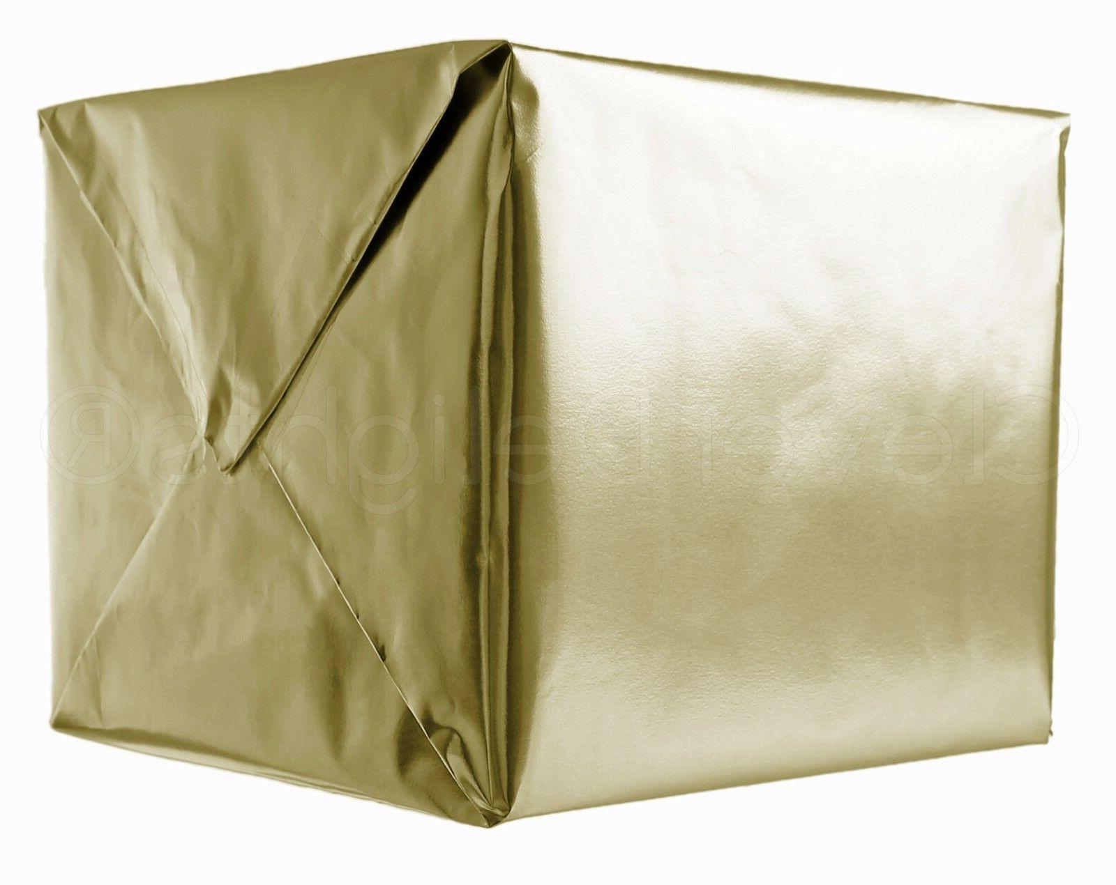 "Metallic Gold Wrapping Paper - 30"" x 300"" JUMBO Roll - 62.5"