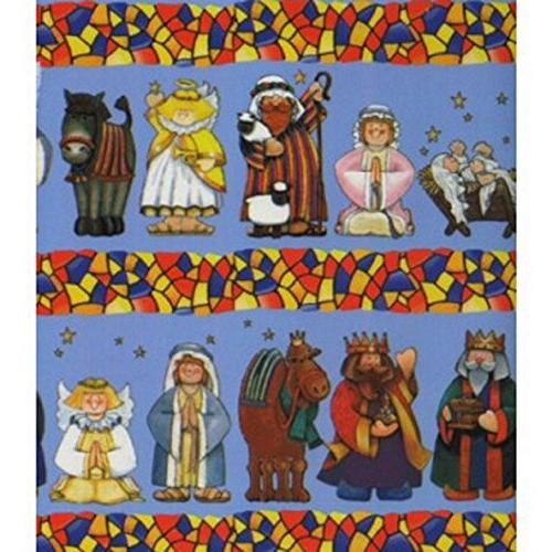 nativity christmas wrapping paper
