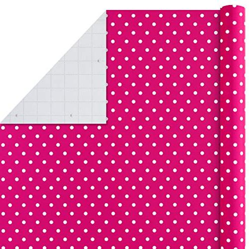 Hallmark Occasion Wrapping Paper with Lines on Reverse, Dots & Wedding