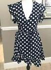 Paper Heart Polka Dot Wrap Dress Juniors NWT Size