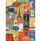 Paris France Travel Stickers Vintage Style Poster Decorative