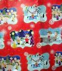 HALLMARK PEANUTS CHRISTMAS GIFT WRAPPING PAPER 1 PKG 4 YDS N