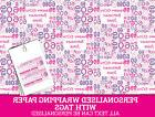 Personalised Happy 60th Birthday Wrapping paper - Pink 60th