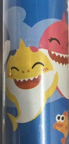 Ping Fong Baby Shark Wrapping Paper Ft Roll Shipping