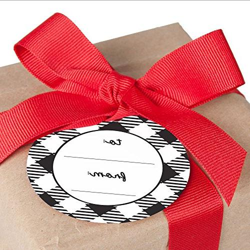 Prancing and Buffalo to and from Favor Gift Tags