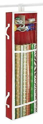 Whitmor Premium Clear Hanging Gift Wrapping Paper Organizer