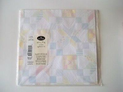 QUILTED EMBOSSED HALLMARK WRAP 2 sheets WRAPPING