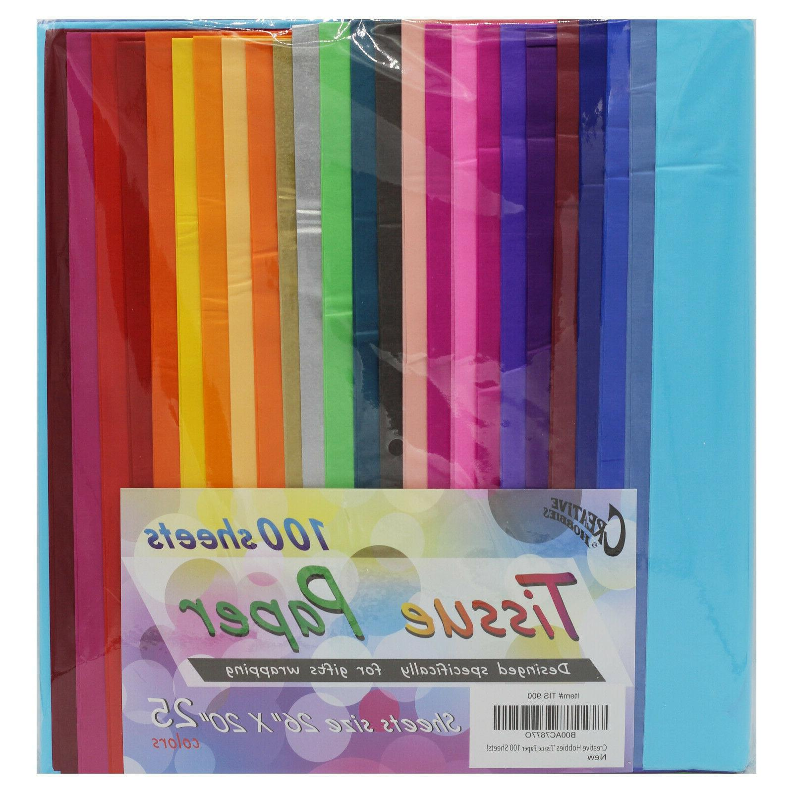 Creative Hobbies Rainbow Color Tissue Paper Bonus Pack, 20""